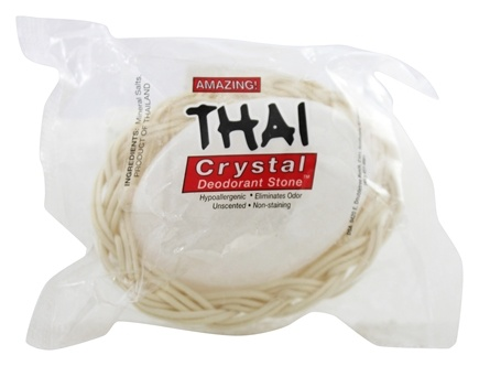 Zoom View - Thai Deodorant Stone in a Basket