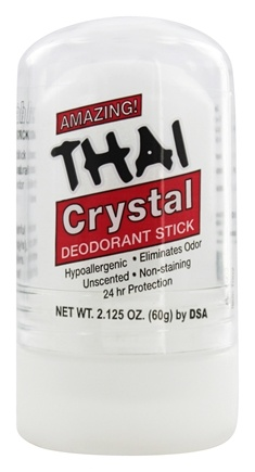 Thai Deodorant Stone - Thai Natural Crystal Deodorant Push-Up Stick - 2.125 oz.