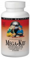 DROPPED: Source Naturals - Megakid Children's Chewables - 30 Chewable Wafers
