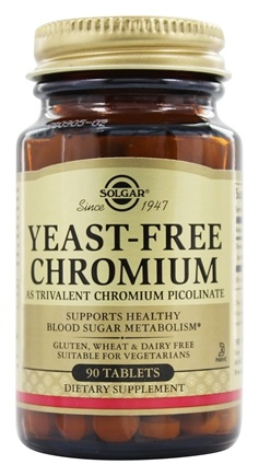DROPPED: Solgar - Yeast-Free Chromium 100 mcg. - 90 Tablets