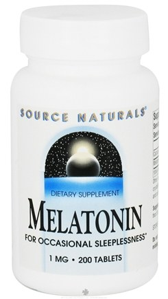 DROPPED: Source Naturals - Melatonin 1 mg. - 200 Tablets CLEARANCED PRICED