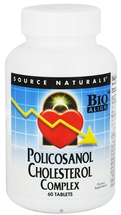 DROPPED: Source Naturals - Policosanol Cholesterol Complex - 60 Tablets CLEARANCE PRICED