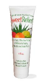 DROPPED: Sweet Relief - 100% All-Natural Pain Relief Cream - 4 oz.