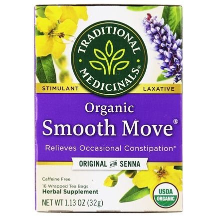 Traditional Medicinals - Organic Smooth Move Herbal Tea - 16 Tea Bags