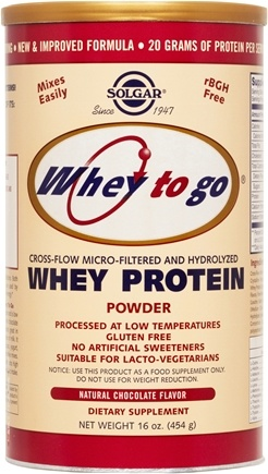 DROPPED: Solgar - Whey To Go Protein Powder Natural Chocolate Cocoa - 16 oz. CLEARANCED PRICED