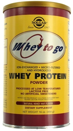 DROPPED: Solgar - Whey To Go Protein Powder Natural Honey Nut - 16 oz.