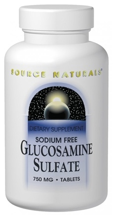 DROPPED: Source Naturals - Glucosamine Sulfate 500 mg. - 60 Tablets
