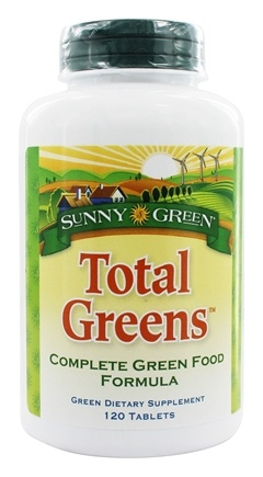 Sunny Green - Total Greens Complete Green Food Formula - 120 Tablets