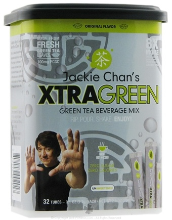DROPPED: TeaTech - Jackie Chan's XtraGreen Tea Beverage Mix Original Flavor - 2.5 oz. (Formerly Instant Green Tea Beverage Mix Sugar Free)