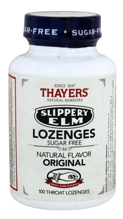 Thayers - Slippery Elm Lozenges Sugar-Free Original - 100 Lozenges