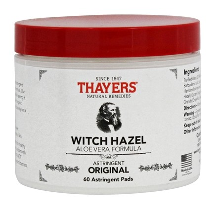 Thayers - Witch Hazel Astringent Pads Original with Aloe Vera - 60 Pad(s)