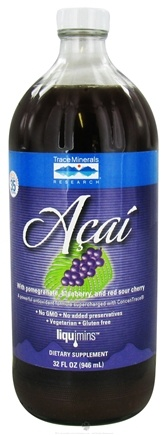 DROPPED: Trace Minerals Research - Acai with Pomegranate Blueberry and Red Sour Cherry - 32 oz. CLEARANCE PRICED