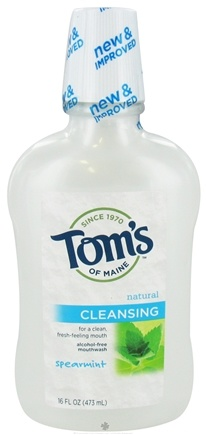 DROPPED: Tom's of Maine - Natural Cleansing Mouthwash Fluoride-Free Spearmint - 16 oz.
