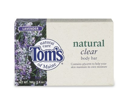 DROPPED: Tom's of Maine - Natural Clear Body Bar Lavender - 3.8 oz.