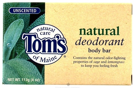 DROPPED: Tom's of Maine - Natural Deodorant Body Bar Unscented - 4 oz.