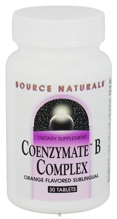 DROPPED: Source Naturals - Coenzymate B Complex Sublingual Orange Flavor - 30 Tablets CLEARANCE PRICED