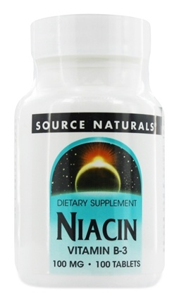 Source Naturals - Niacin Vitamin B-3 100 mg. - 100 Tablets