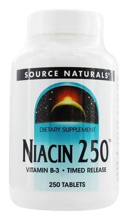 Source Naturals - Niacin 250 Vitamin B3 250 mg. - 250 Tablets