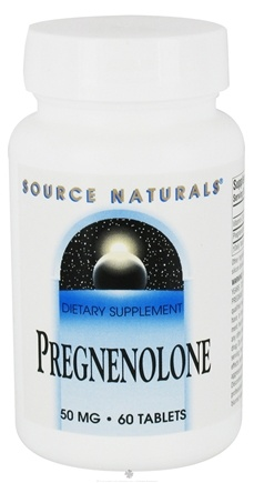 DROPPED: Source Naturals - Pregnenolone 50 mg. - 60 Tablets