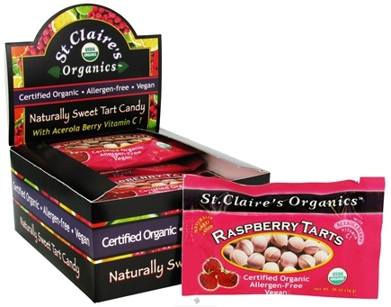 DROPPED: St. Claire's Organics - Naturally Sweet Raspberry Tarts - 0.56 oz. CLEARANCE PRICED