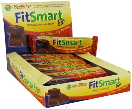 DROPPED: Fiber 35 Diet - FitSmart Protein Bar Delicious Chocolate Chunk - 2.1 oz.