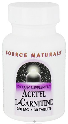 DROPPED: Source Naturals - Acetyl L-Carnitine 250 mg. - 30 Tablets CLEARANCE PRICED