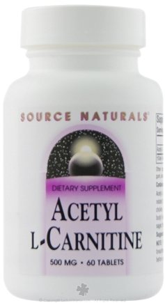 DROPPED: Source Naturals - Acetyl L-Carnitine 500 mg. - 60 Tablets CLEARANCE PRICED