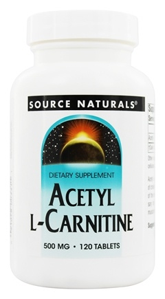 Source Naturals - Acetyl L-Carnitine 500 mg. - 120 Tablets
