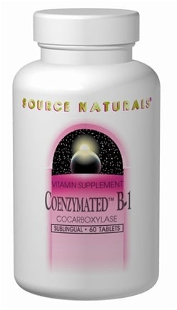 DROPPED: Source Naturals - Coenzymated B-1 - 60 Tablets