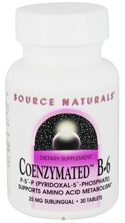 DROPPED: Source Naturals - Coenzymated B6 Sublingual 25 mg. - 30 Tablets CLEARANCE PRICED