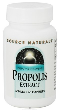 DROPPED: Source Naturals - Propolis Extract 500 mg. - 60 Capsules CLEARANCED PRICED