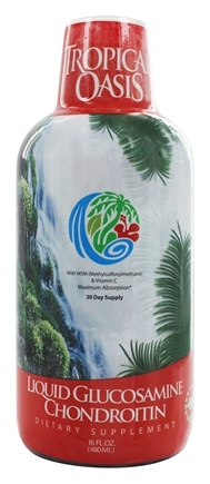 Tropical Oasis - Liquid Glucosamine & Chondroitin with MSM & Vitamin C - 16 oz.