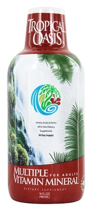 Tropical Oasis - Liquid Multiple Vitamin/Mineral - 16 oz.