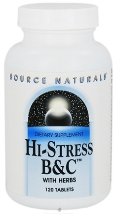 DROPPED: Source Naturals - Hi-Stress B&C with Herbs - 120 Tablets CLEARANCE PRICED