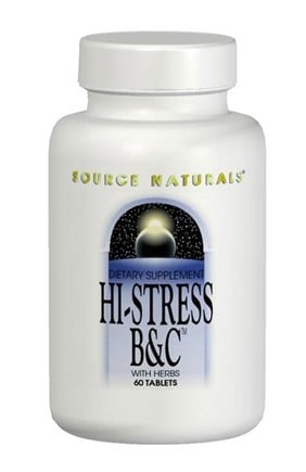 DROPPED: Source Naturals - Hi-Stress B&C with Herbs - 60 Tablets