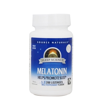 Source Naturals - Melatonin Sublingual Peppermint 5 mg. - 200 Tablets