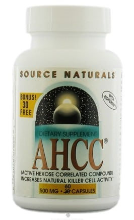 DROPPED: Source Naturals - AHCC With Bioperine Bonus Bottle 500 mg. - 60 Capsules