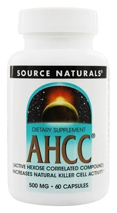 DROPPED: Source Naturals - AHCC with Bioperine 500 mg. - 60 Capsules