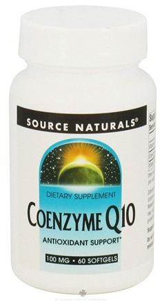 DROPPED: Source Naturals - Coenzyme Q10 100 mg. - 60 Softgels CLEARANCE PRICED