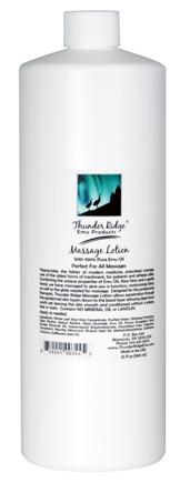 DROPPED: Thunder Ridge Emu Products - Massage Lotion - 32 oz. CLEARANCE PRICED