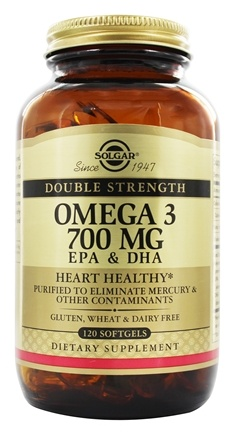 Solgar - Double Strength Omega 3 700 mg. - 120 Softgels
