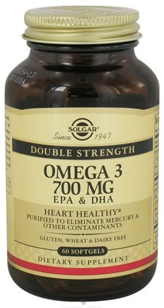 DROPPED: Solgar - Double Strength Omega 3 700 mg. - 60 Softgels CLEARANCE PRICED