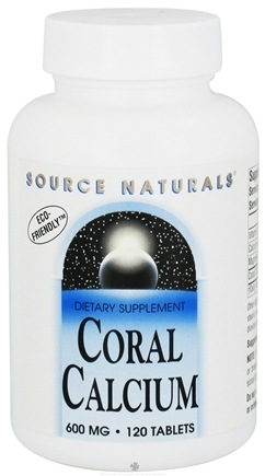 DROPPED: Source Naturals - Coral Calcium 600 mg. - 120 Tablets CLEARANCE PRICED
