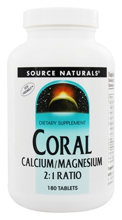 DROPPED: Source Naturals - Coral Calcium/Magnesium 2:1 Ratio - 180 Tablets