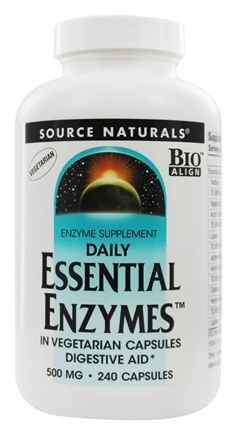 Source Naturals - Daily Essential Enzymes 500 mg. - 240 Vegetarian Capsules