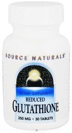 DROPPED: Source Naturals - Reduced Glutathione 250 mg. - 30 Tablets CLEARANCE PRICED