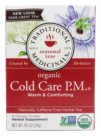 DROPPED: Traditional Medicinals - Cold Care P.M. Tea - 16 Tea Bags