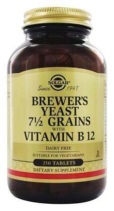 Solgar - Brewer's Yeast 7 1/2 Grains - 250 Tablets