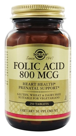 Solgar - Folic Acid 800 mcg. - 250 Tablets