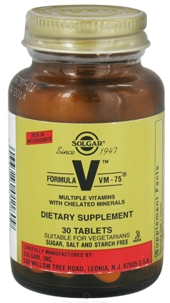 DROPPED: Solgar - Formula VM-75 - 30 Tablets CLEARANCE PRICED
